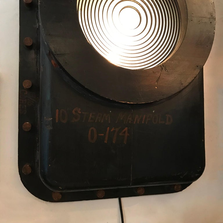 Custom Industrial Foundry Pattern Wall Sconce Light For Sale 2