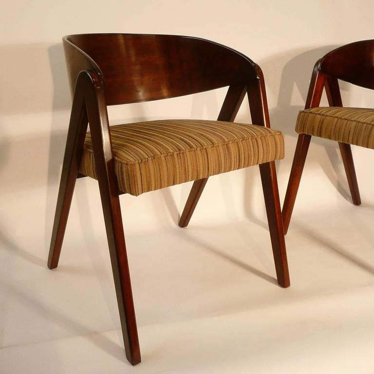 Pair Of Allan Gould For Herman Miller Compass Chairs