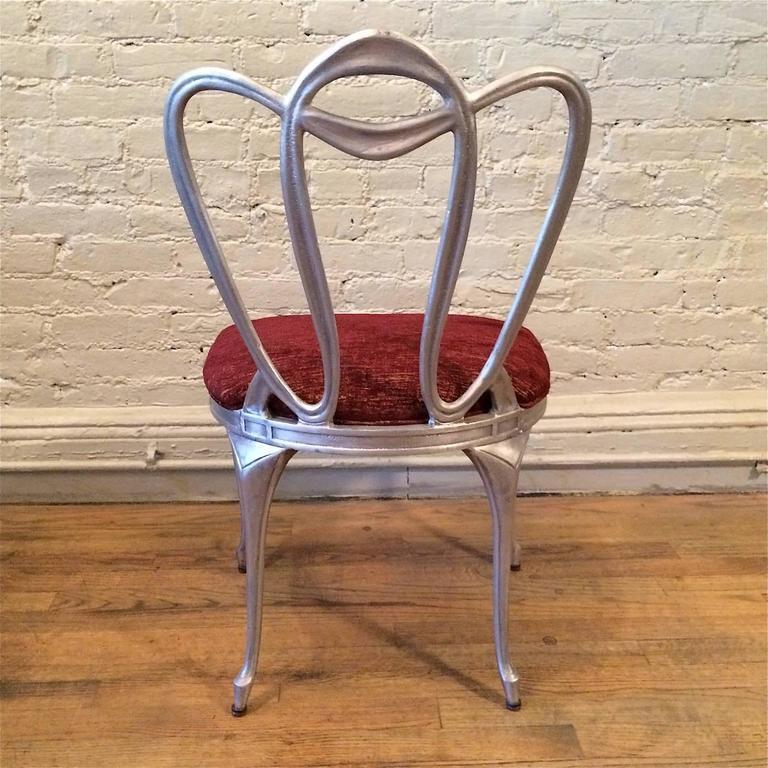 Hollywood Regency Aluminum Chair Set For Sale 5