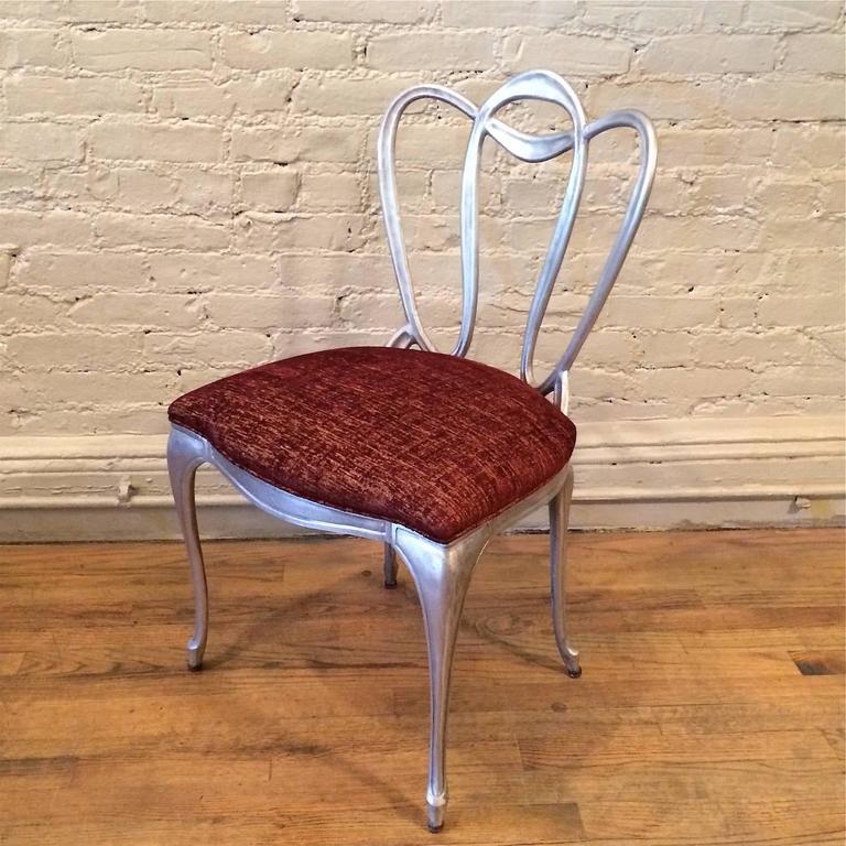 Hollywood Regency Aluminum Chair Set For Sale 3