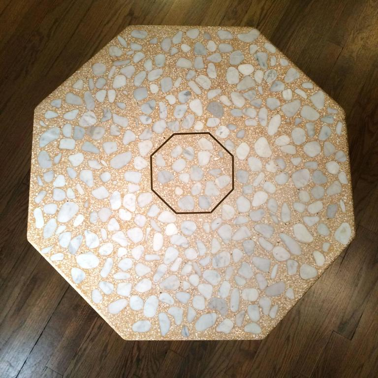 Mid-Century Modern Mid Century Modern Terrazzo Pedestal Side Table By Harvey Probber  For Sale