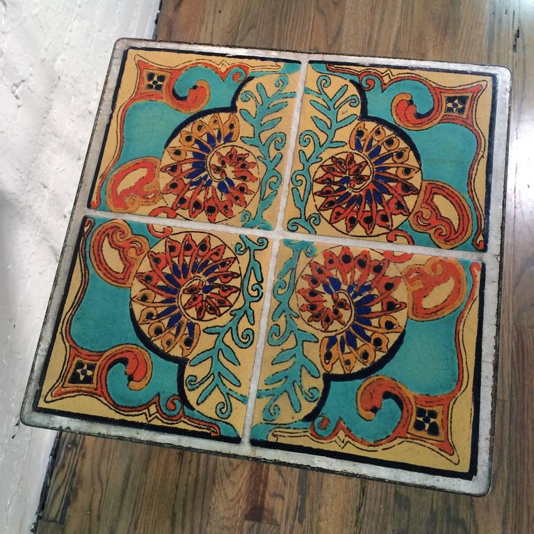 Arts and crafts ceramic tile table for sale at 1stdibs for Arts crafts tiles