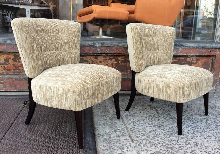 midcentury hollywood regency velvet slipper chairs by kroehler 3 - Kroehler Furniture