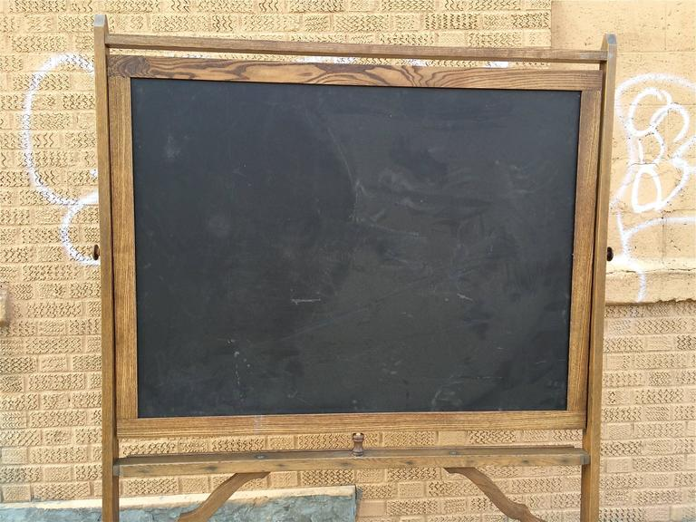 1930s Maple Frame Double Sided Schoolhouse Standing