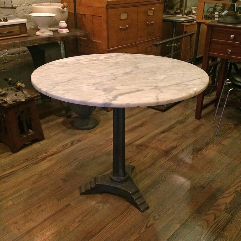 French Marble Art Deco Pedestal Bistro Caf 233 Table At 1stdibs