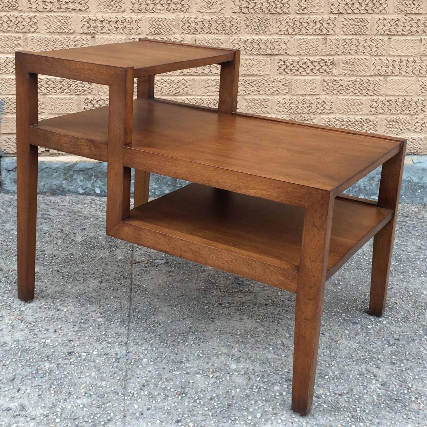 Russel Wright Mid-Century Modern Tiered Birch Side Table
