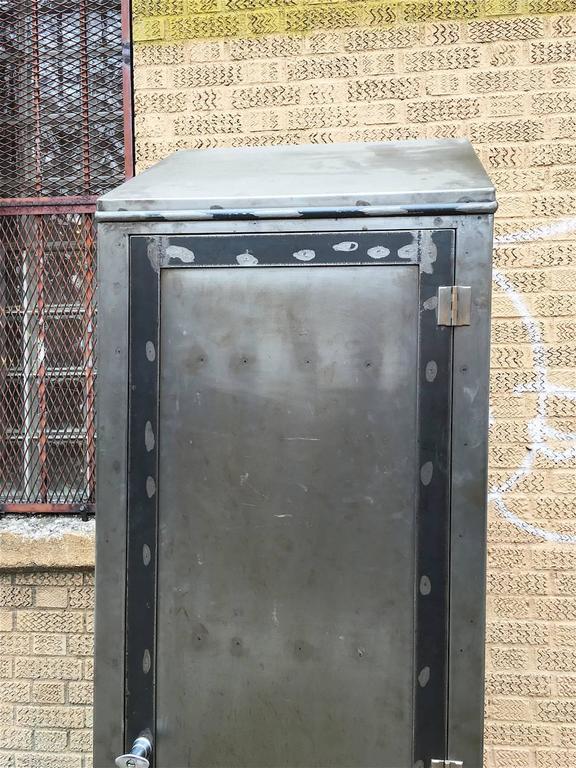 American Tall Industrial Brushed Steel Locker For Sale