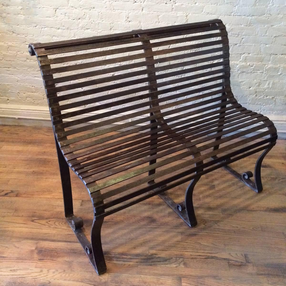 Late 19th Century Victorian Wrought Iron Park Bench For Sale At 1stdibs