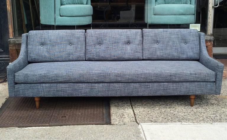 Scandinavian Modern Danish Modern Upholstered Sofa by Selig For Sale
