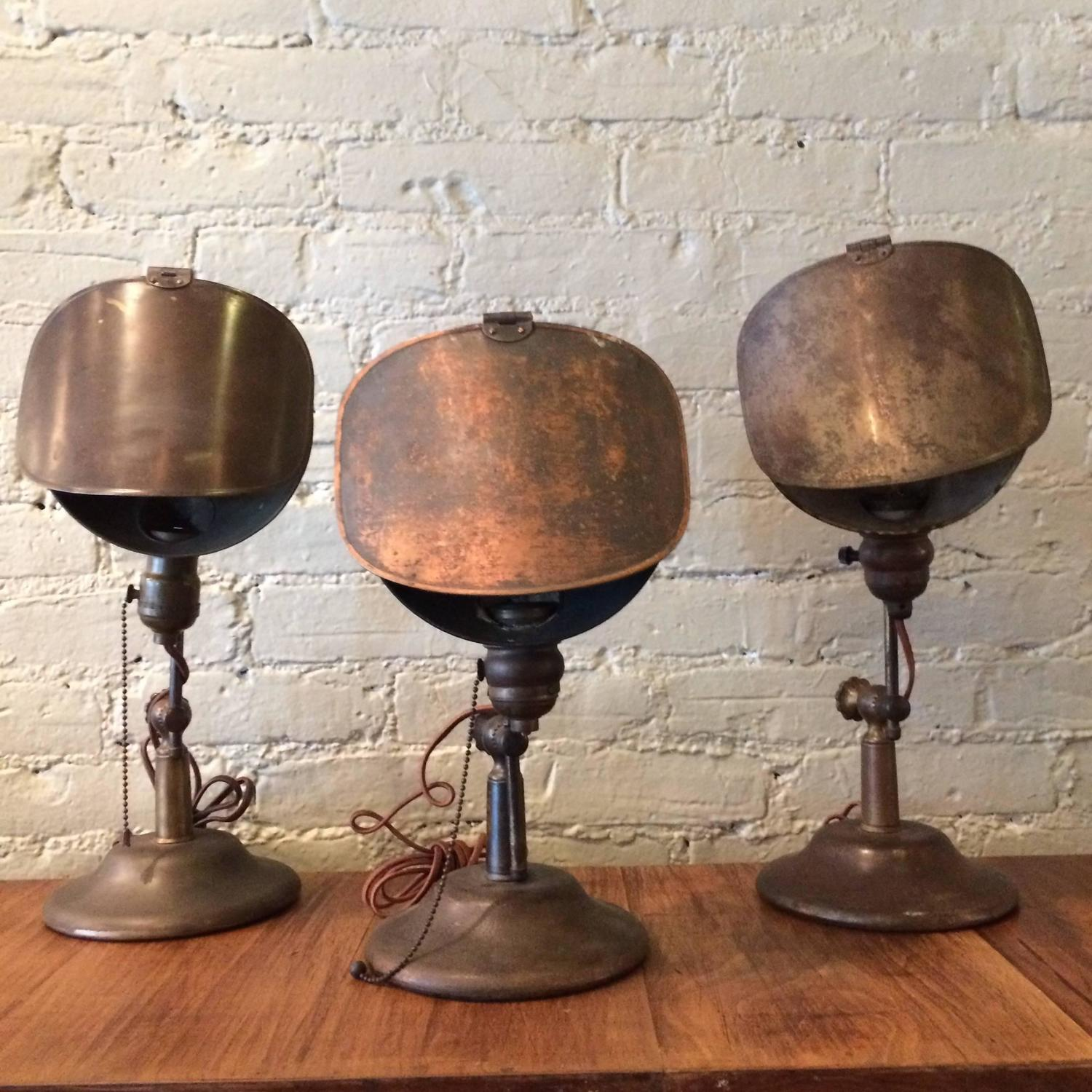 Industrial Bass Jewelers Table Lamp For Sale At 1stdibs