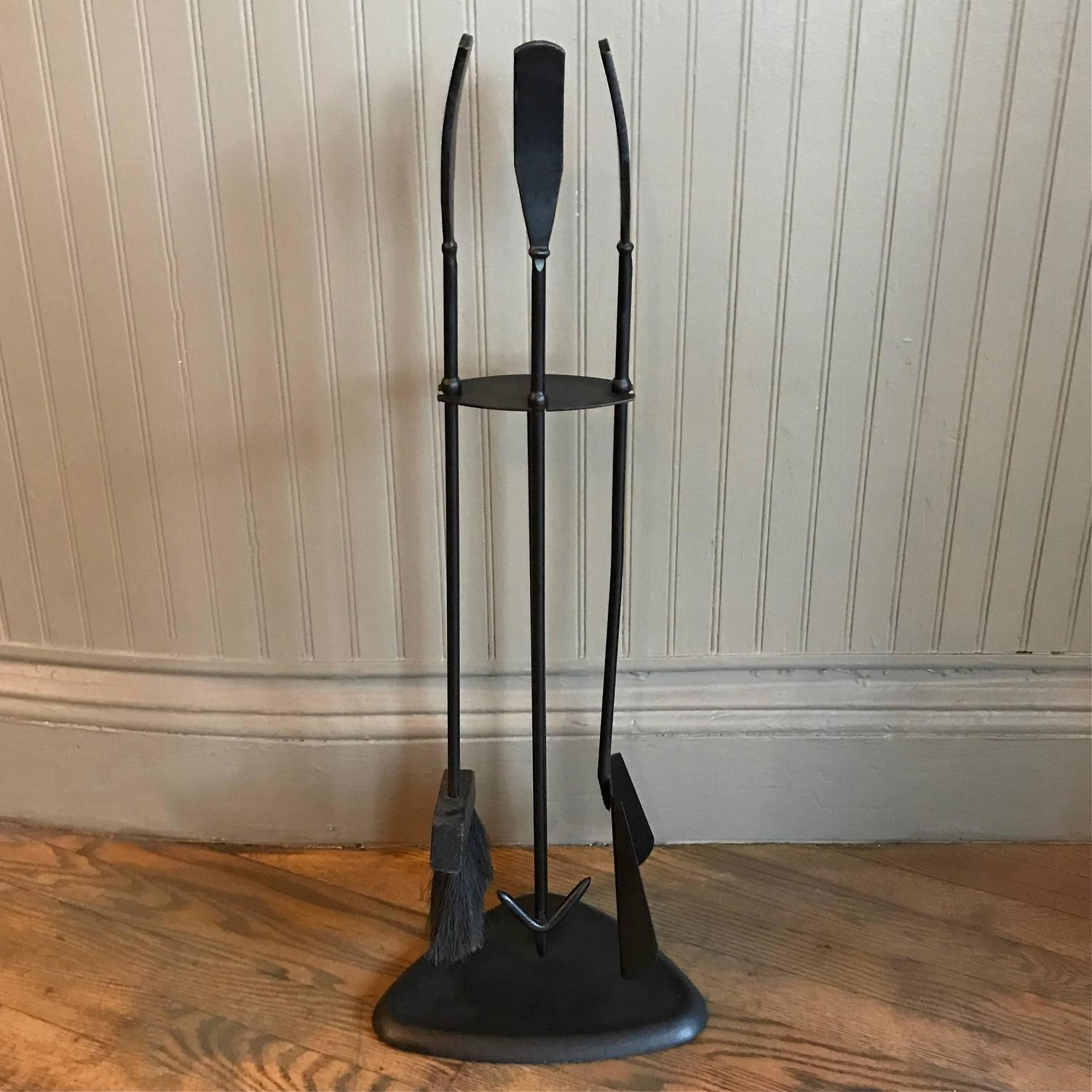 Mid Century Modern Wrought Iron Fireplace Tool Set For Sale At 1stdibs