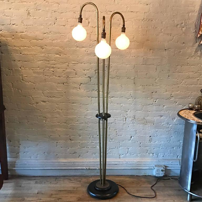 Mid century brass three arm spider floor lamp at 1stdibs for What is a spider lamp