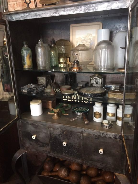 Industrial Brushed Steel Apothecary Medicine Cabinet 4
