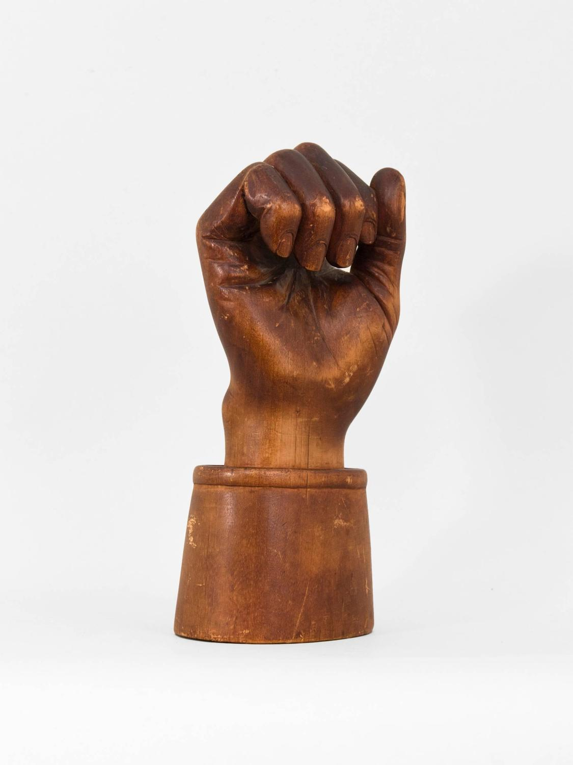 Carved wooden hand for sale at stdibs