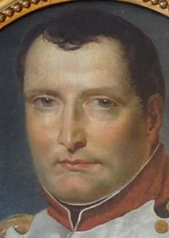 Oil on canvas napoleon portrait 19th century.