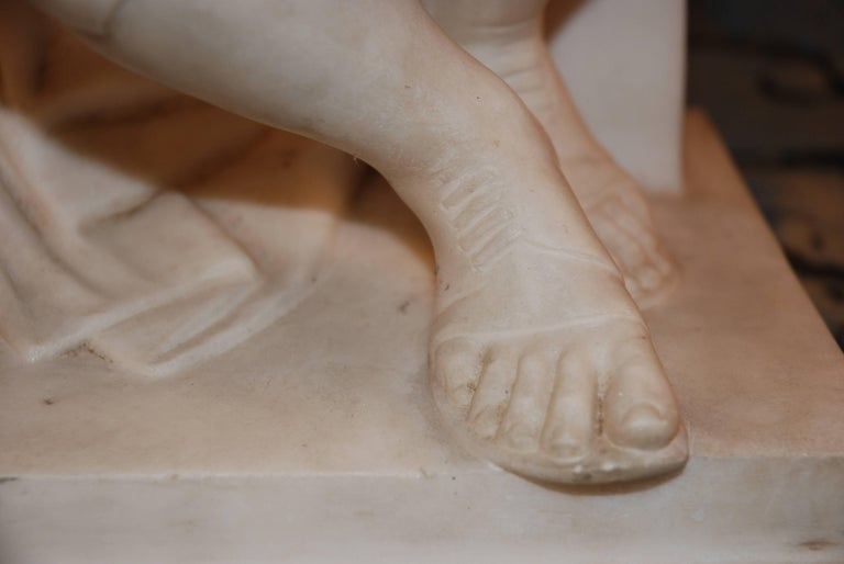 Marble Sculpture, Lorenzo de Medici In Excellent Condition For Sale In Palm Beach, FL