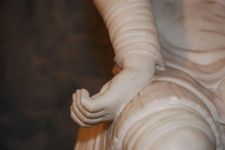 Italian Marble Sculpture, Lorenzo de Medici For Sale