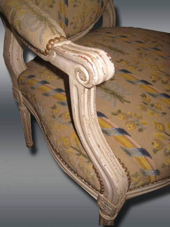 Pair of French Armchairs, Louis XVI For Sale 1