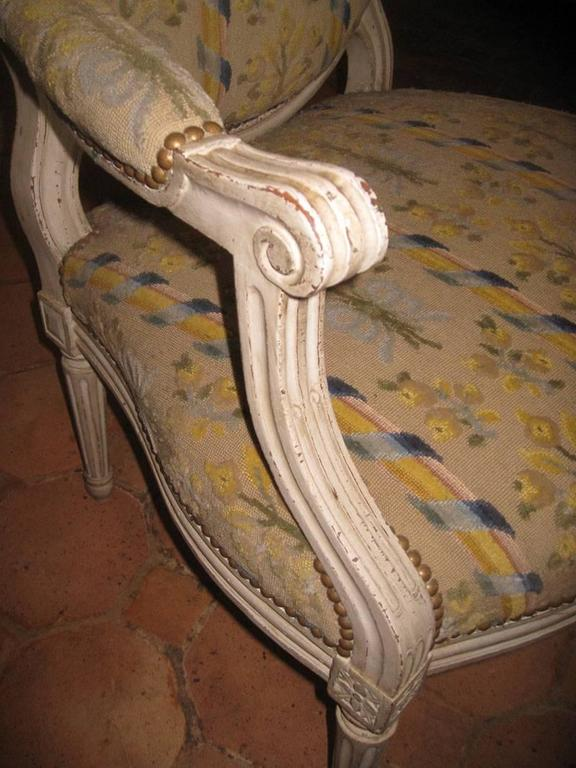 Pair of French Armchairs, Louis XVI For Sale 2