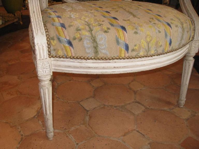 18th Century and Earlier Pair of French Armchairs, Louis XVI For Sale