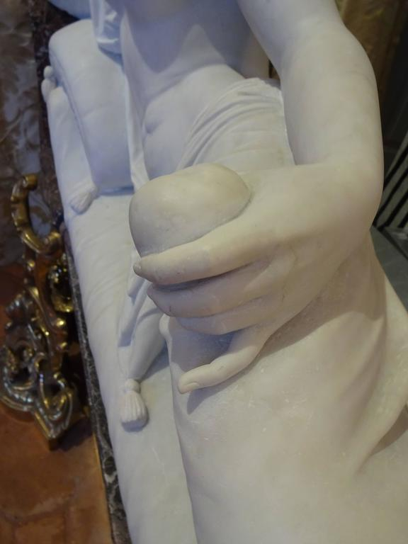 Pauline Borghese Marble Sculpture 6