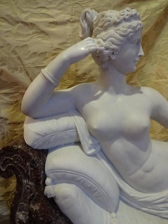 Pauline Borghese Marble Sculpture 2