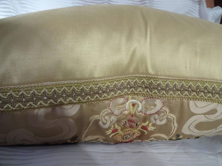 Magnificent Embroidered Pillows, Scalamandre Fabric In Excellent Condition In Palm Beach, FL
