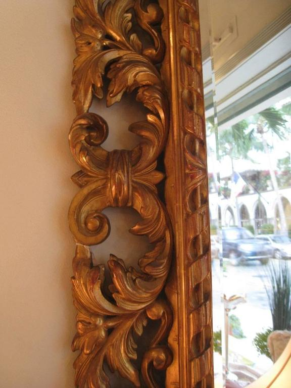 French Carved Gilt Mirror, Napoleon III For Sale
