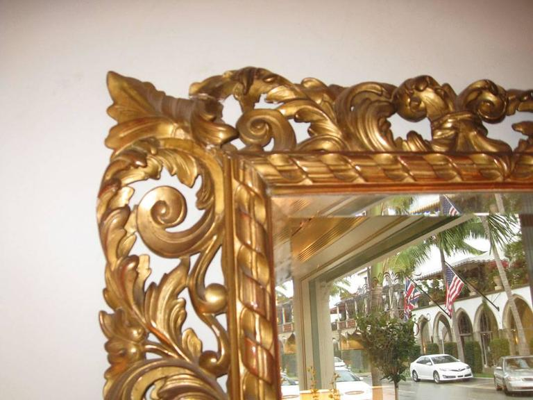 Carved Gilt Mirror, Napoleon III In Excellent Condition For Sale In Palm Beach, FL