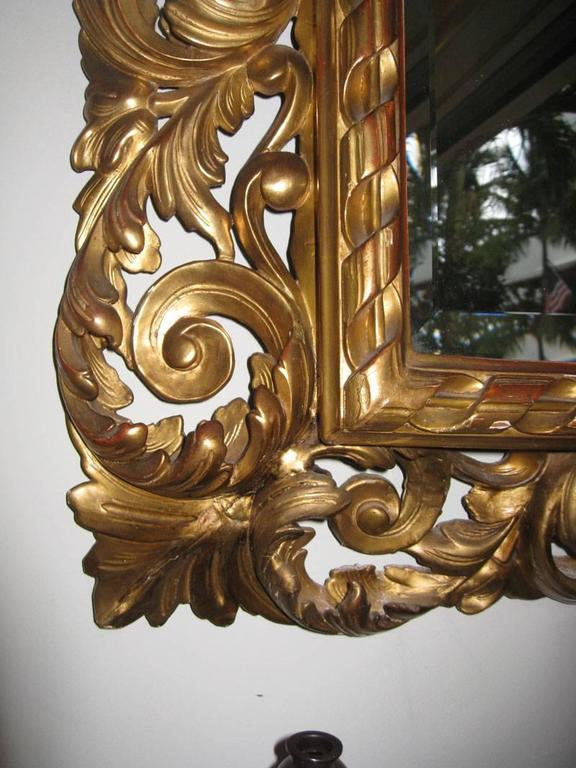 19th Century Carved Gilt Mirror, Napoleon III For Sale