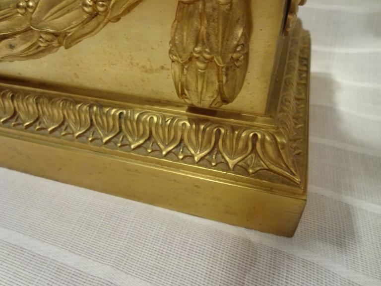 Oversized Chenets, Architectural Elements 19th Century, Gilt Bronze Eagles In Excellent Condition For Sale In Palm Beach, FL