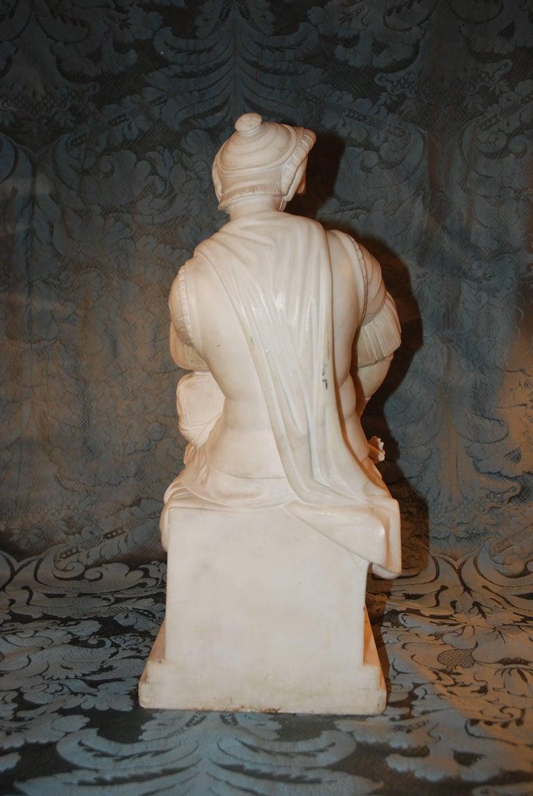 Marble Sculpture, Lorenzo de Medici For Sale 1