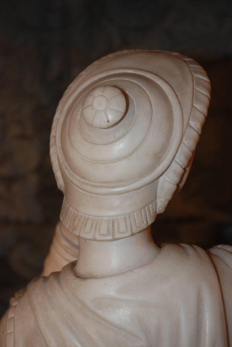 Marble Sculpture, Lorenzo de Medici For Sale 2