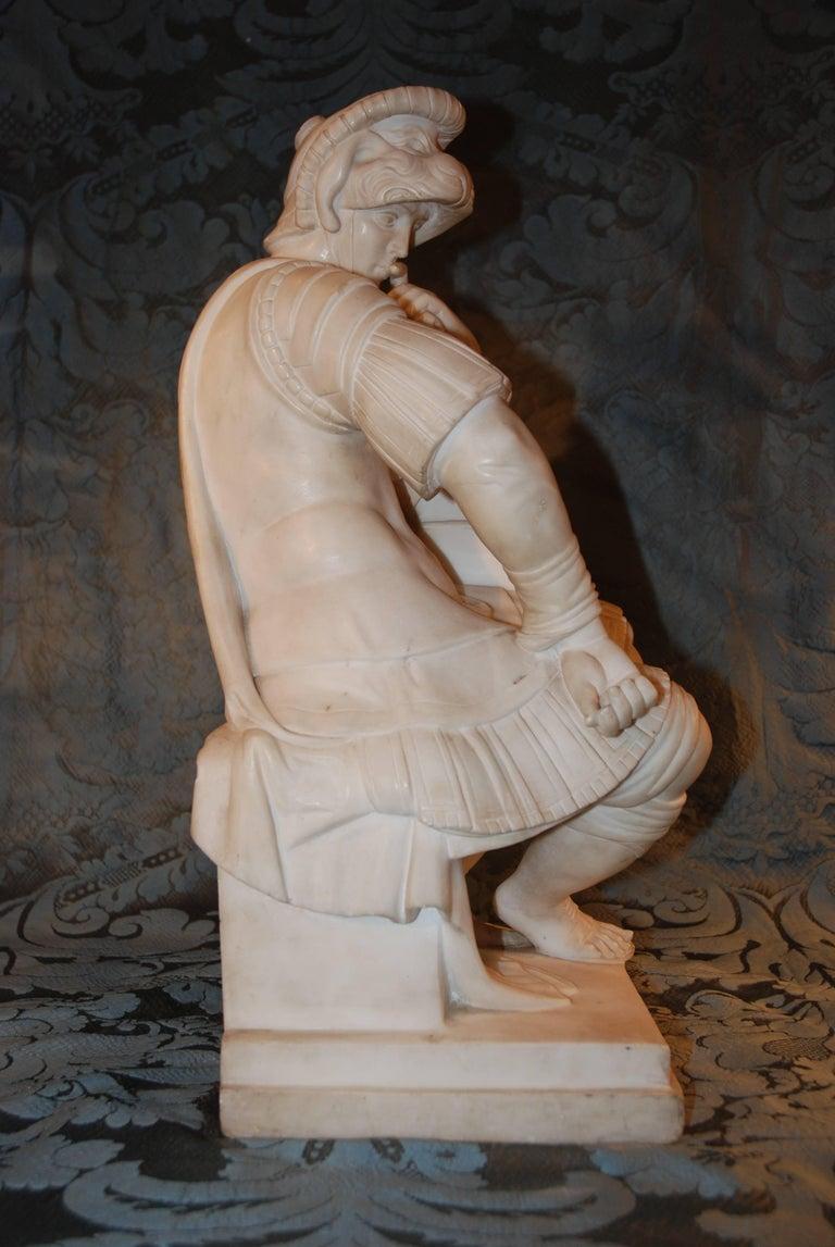 Marble Sculpture, Lorenzo de Medici For Sale 3