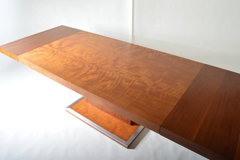 Milo Baughman Walnut Pedestal Dining Table For Founders At