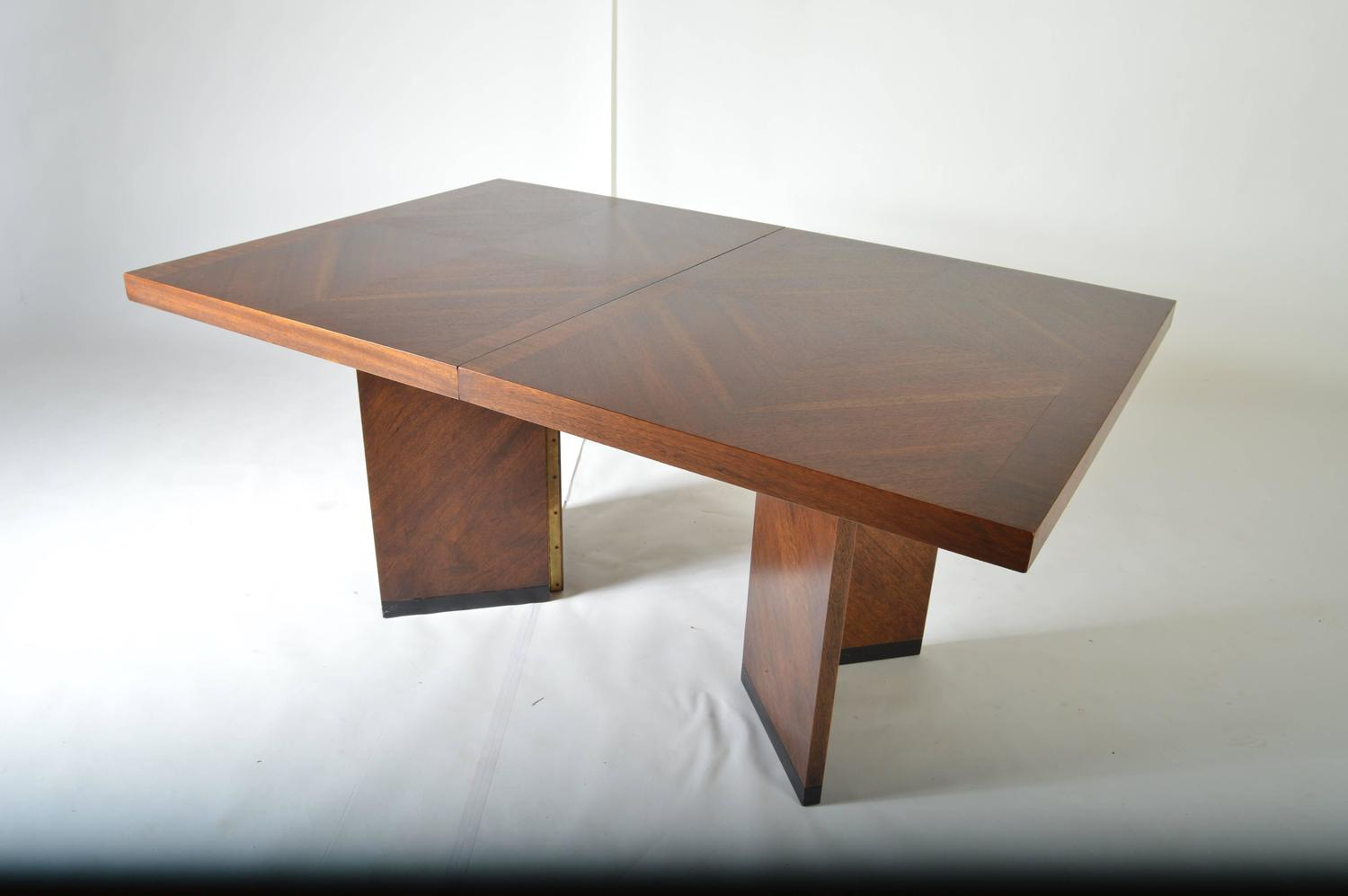 Lane Dining Room Sets Midcentury Brutalist Walnut Dining Table By Lane At 1stdibs Lane