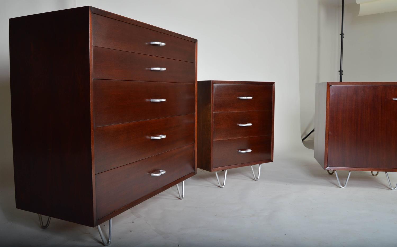 Mid century george nelson for herman miller bedroom for Bedroom furniture sets george
