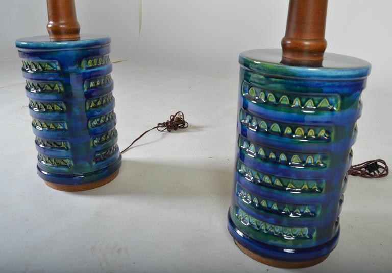 Mid century ginger jar lamp pair at 1stdibs - Stunning Pair Of Mid Century Drip Glaze Porcelain Table