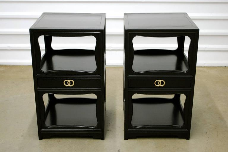 Michael Taylor For Baker Pair Of Nightstands Or End Tables 1950s At 1stdibs