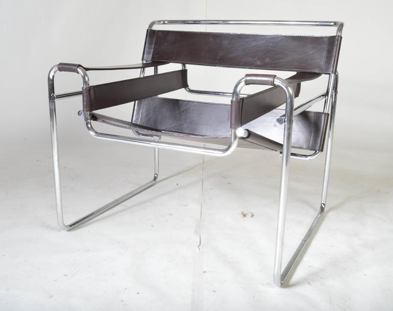vintage 1960s wassily chair by marcel breuer for gavina. Black Bedroom Furniture Sets. Home Design Ideas