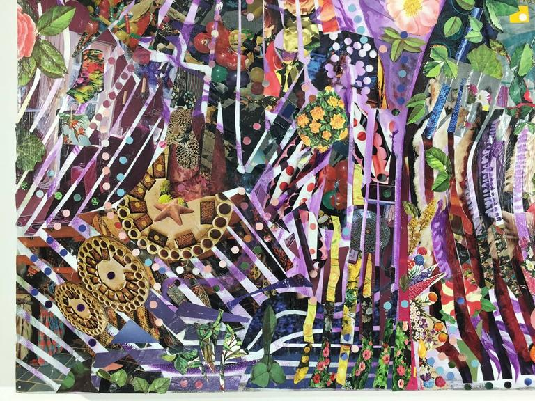Contemporary Prince Oil Acrylic and Collage on Canvas by William Wright For Sale