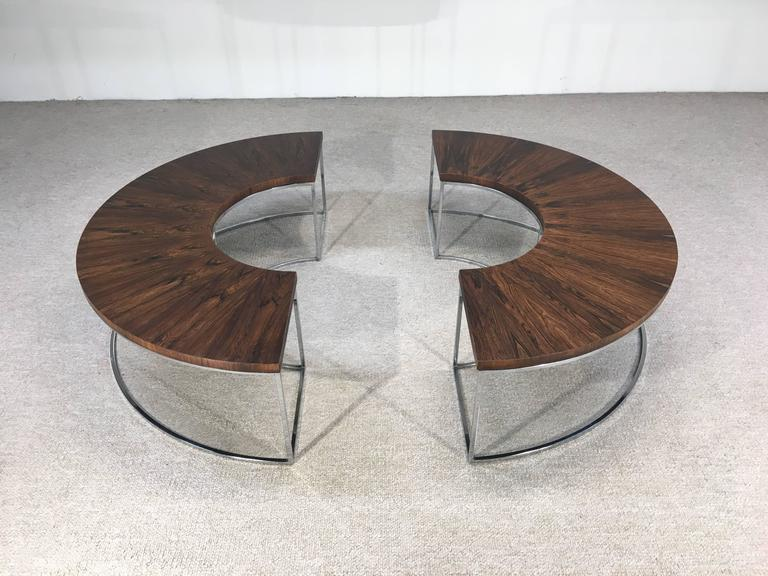 Awesome Milo Baughman Brazilian Rosewood And Chrome Two Part Cjindustries Chair Design For Home Cjindustriesco