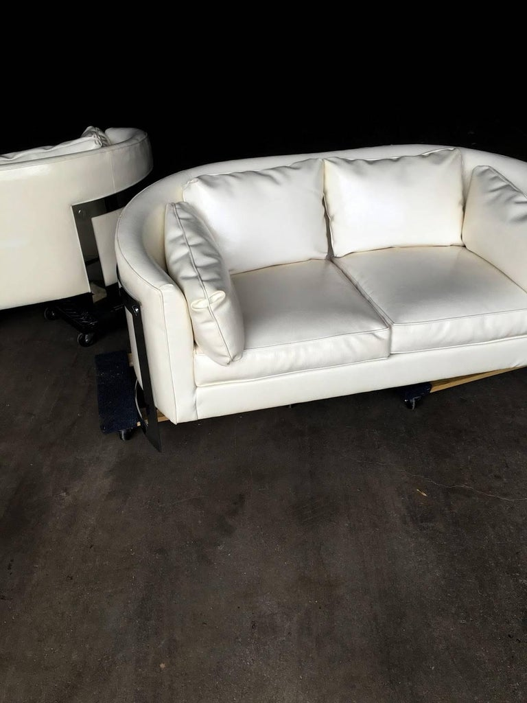 Mid-Century Modern Milo Baughman Cantilever Sofas or Loveseats For Sale