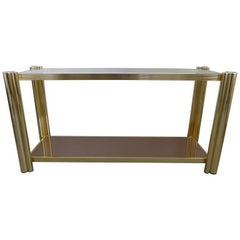 Gleaming Brass Console, 1970s