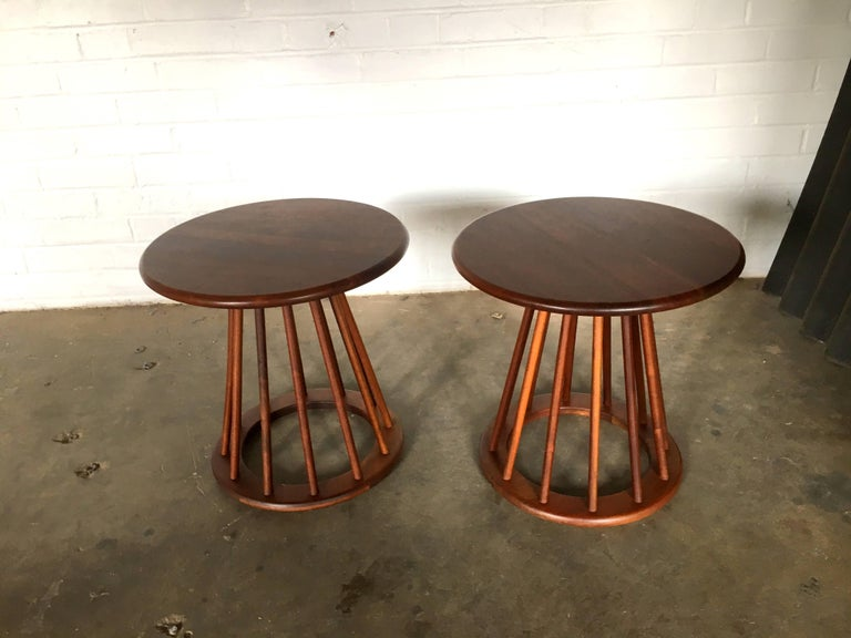 Stunning Pair Of Arthur Umanoff Spindle End Tables At 1stdibs