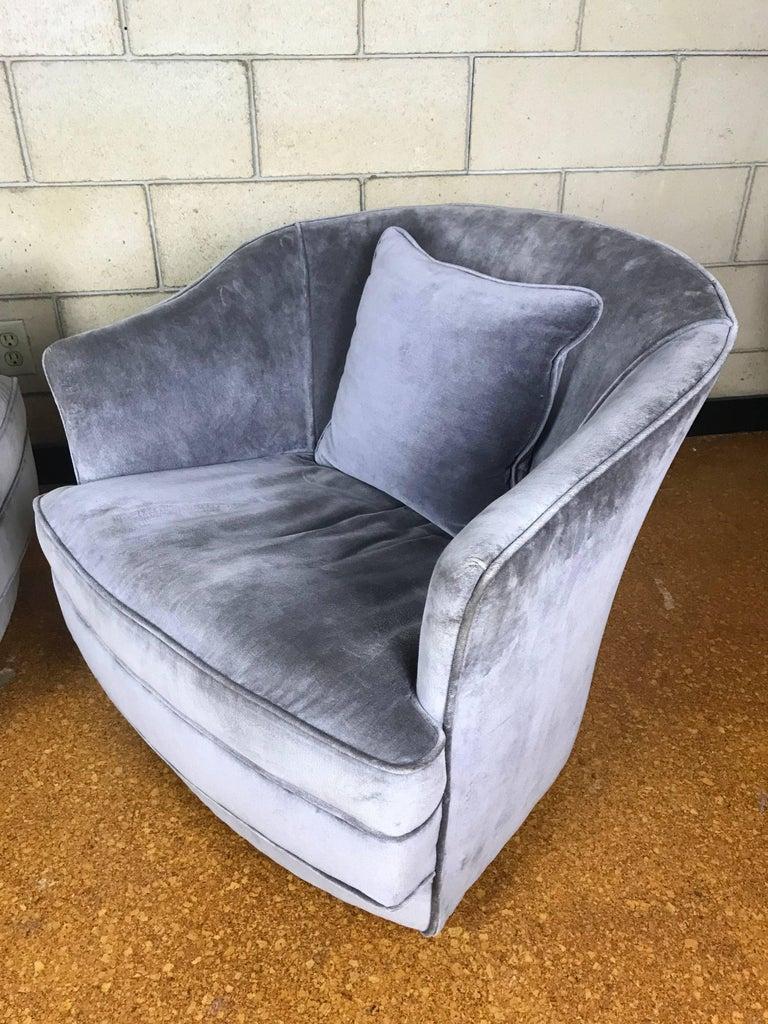 Petite Swivel Tub Barrel Lounge Club Chairs By Ralph Morse