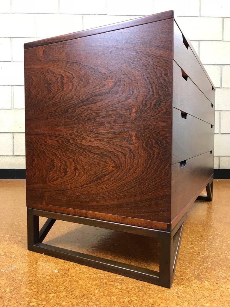 Rare danish modern rosewood chest dresser by svend