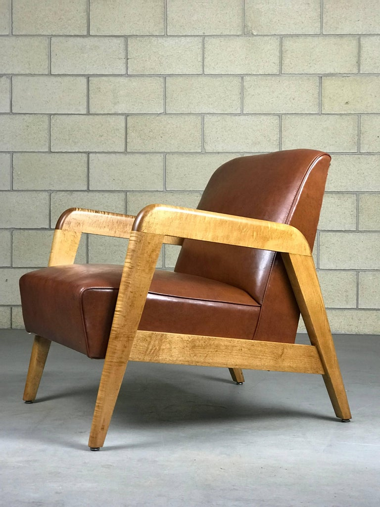 Early Mid Century Modern Lounge Chair By Russel Wright For