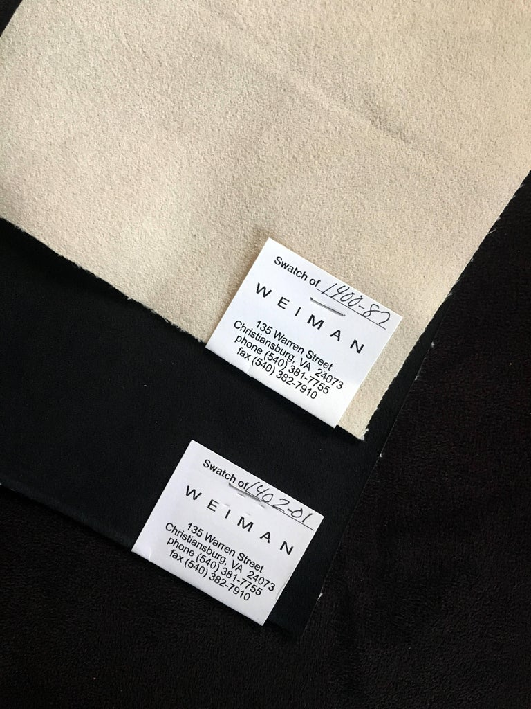 Ultrasuede Pair of Vladimir Kagan for Weiman Nautilus Swivel Chairs For Sale