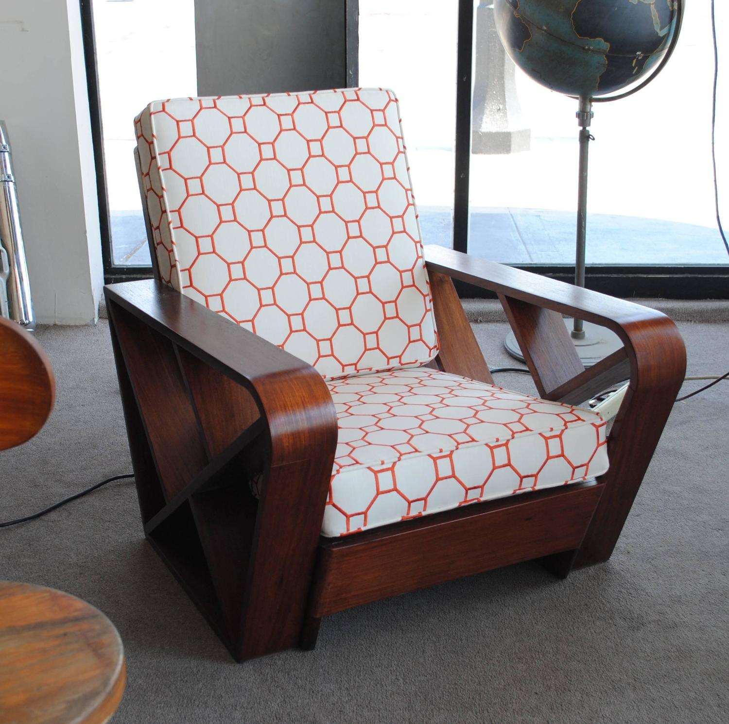Art deco lounge chair style of paul frankl for sale at for Art deco style lounge